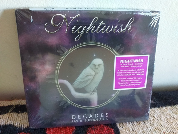 Nightwish: Decades Live In Bs As Blu Ray + 2 Cds. (delain)