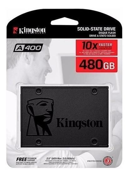 Hd Ssd Kingston 480gb A400 Sata 3 Notebook E Pc Novo Lacrado