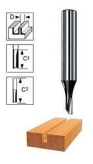 Fresa Router Tupi Ranura Recta 2 Filos 3/8 (9,53mm.) Bosch