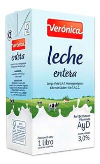 Leche Verónica X 1 Litro ( Caja X 12 Unidades )