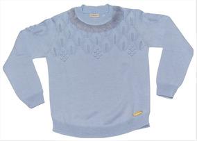 Blusao Gola Pele Azul Pastel - Bebelândia