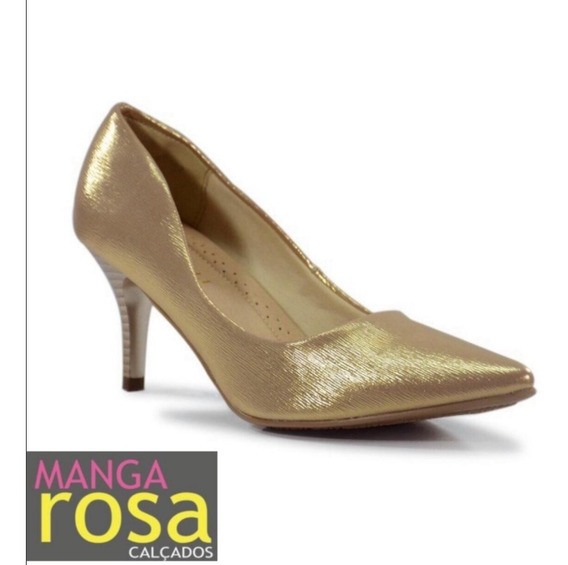 Sapato Feminino Scarpin Social Salto Baixo Facinelli 62107