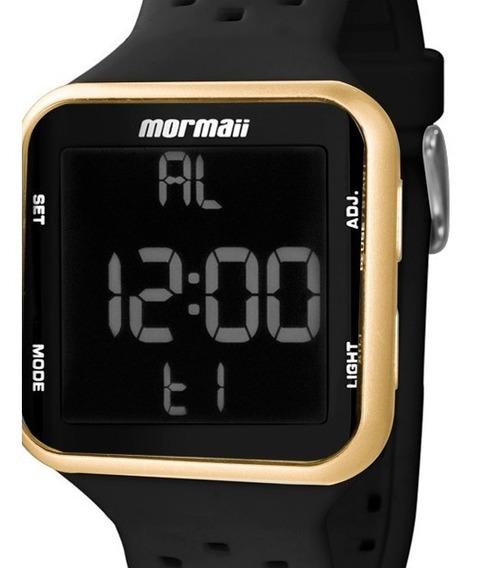 Relógio Feminino Digital Esporte Pulseira De Silicone Preto Dourado Mormaii Mo6600/8d Original