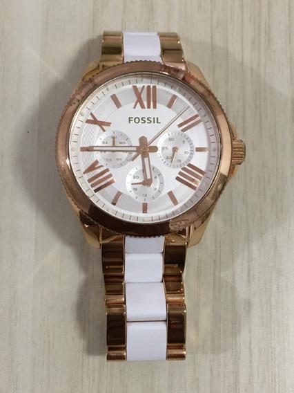 Relógio Fossil Am4546 Dourado Pouco Usado