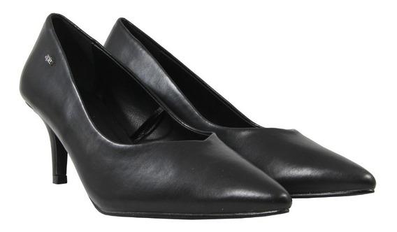 Zapato Cerrado De Vestir Mujer Dama A Pie Con Taco 7 Cm