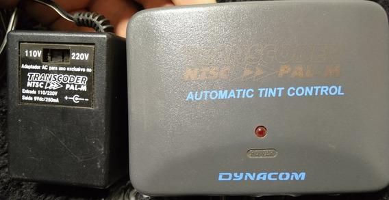 Transcoder Ntsc/pal-m Dynacom Saída Áudio Vídeo Rf Game