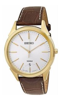Reloj Hombre Seiko Cuero Clasico X Local 35% Off + Regalo !!