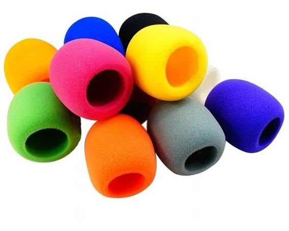 Espuma Protetora Para Microfone Coloridas 10 Unidades