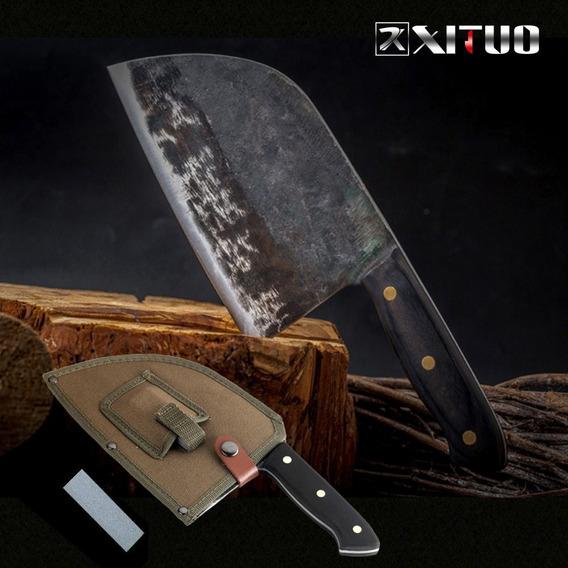 Xituo Completa Tang Chef Faca Artesanal Forjado De Alta Carb
