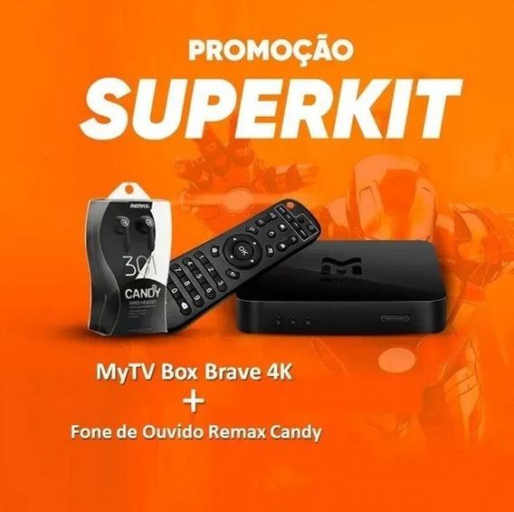 Mytv Brave Box Ultra Hd 4k Lacrado + Brinde Fone De Ouvido