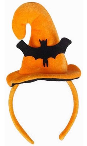 Diadema Halloween Calabaza Con Murciélago