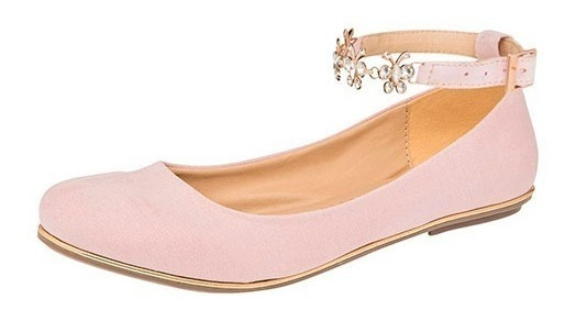Zapato De Piso Dama Balerina Been Class 11007 22-26 Rosa T4