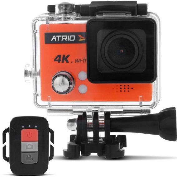 Câmera De Ação Atrio Dc185 Laranja Fullsport Cam 4k