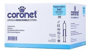 Jeringa De Insulina 1ml Descartable Coronet X 100 29g X 1/2