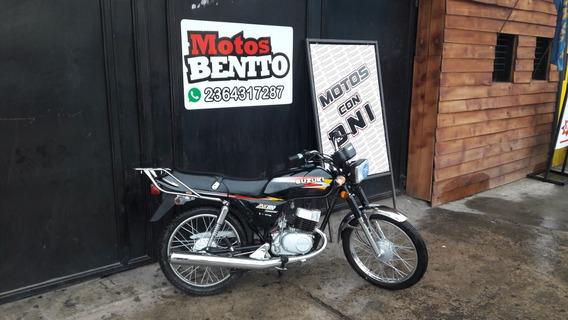 Suzuki Ax 100 Okm Negro Linea Nueva Motos Benito