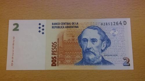 Billete De 2 Pesos Convertibles Bottero 3209 Sin Circular
