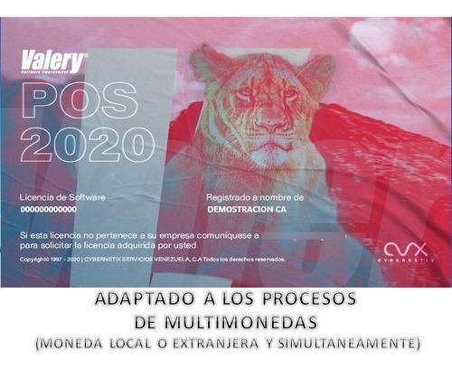 Imagen 1 de 6 de Valery® Software Pos 2020 -licencia 100% Legal - Multimoneda