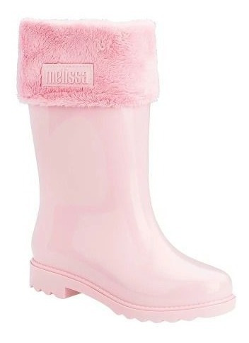 Bota Melissa Mel Winter Boot Marrom Glitter Infantil 32587
