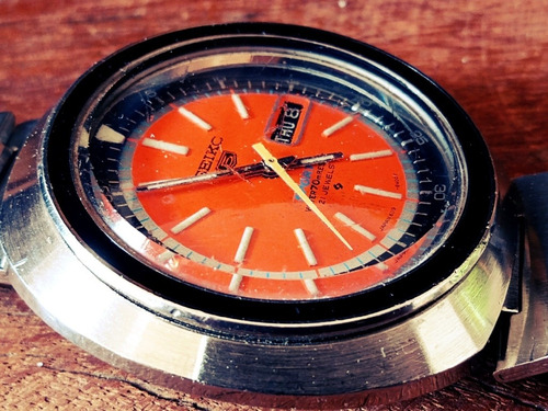 Seiko Sports 6119-6400 Orange Dial De 1973 = Crono Aviador