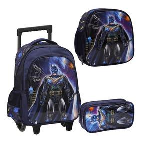 Kit Mochila Rodinha/carrinho Batman