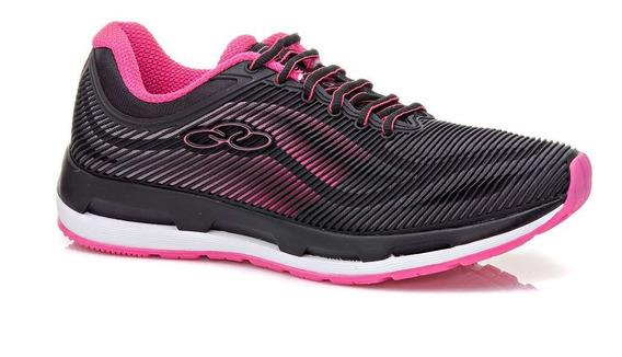 Tenis Olympikus Oasis Preto/pink Feminino