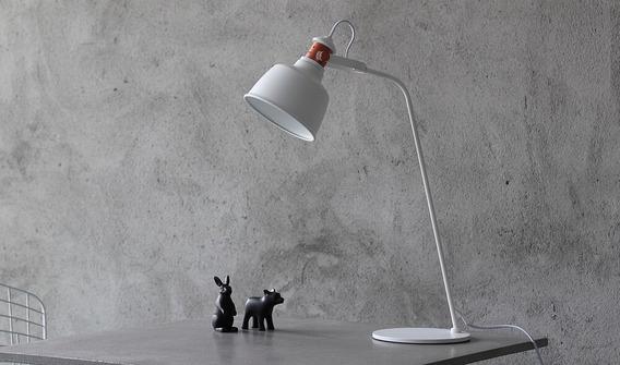 Luminária De Mesa Slim Moderno Branco E27