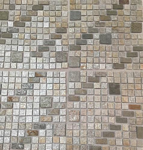 Mosaico O Malla Piedra Lima Plata. Salas Baños Cocinas Pared