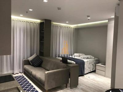 Flat Com 1 Dormitório Para Alugar, 42 M² Por R$ 2.500/mês - Centro - São Bernardo Do Campo/sp - Fl0008
