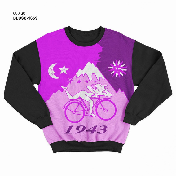 Blusa De Frio Moletom Psicodélica Bike 100 Anos Doce - Pink