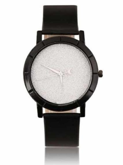 Relógio Unissex Elegante Pulseira Couro Luxo