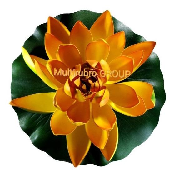 Flor De Loto Artificial Grande Parece Natural Flotante Estan
