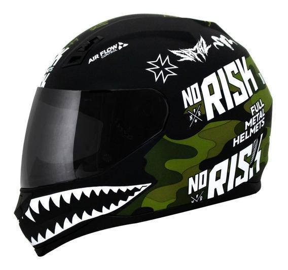 Capacete Norisk Ff391 Ride Hard Camuflado + Viseira Cristal