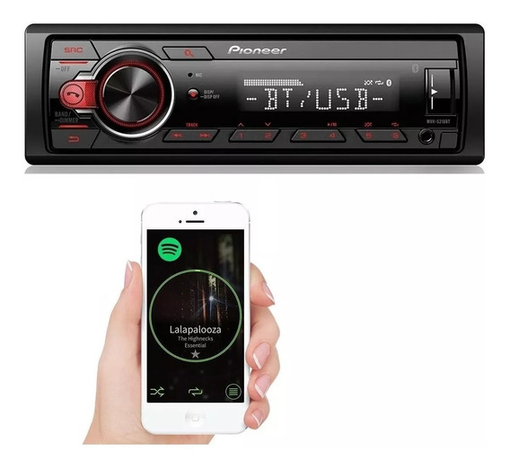 Aparelho Som Bluetooth Pioneer Mvh-218bt Usb Modelo 2017