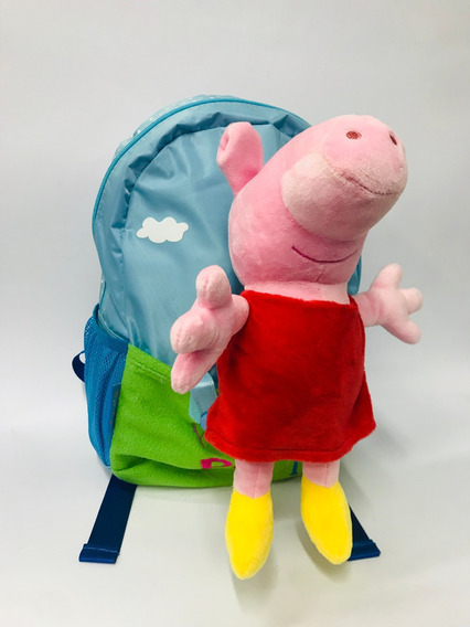 Mochila Peppa Pig C/ Peluche Desmontable Jugueteria Garabato