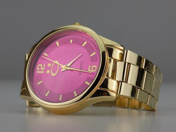 Relógio Feminino Dourado 100% Original Barato Promoção Moda