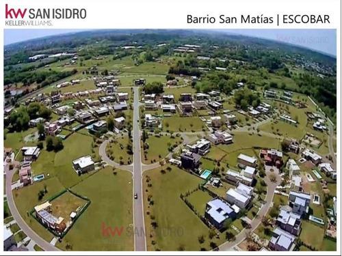 Lote En Venta. Barrio San Matías. Escobar