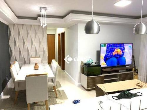 Imagem 1 de 11 de Apartamento Com 3 Dormitórios À Venda, 90 M² - Vila Teller - Indaiatuba/sp - Ap1205