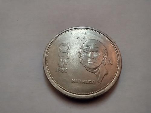 Moneda Miguel Hidalgo 10 Pesos 1986