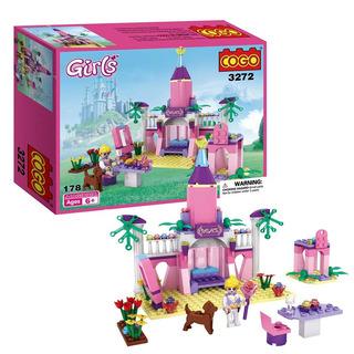 Cogo Girls Princess Toy Fairy Dreams Castle Building Jugu
