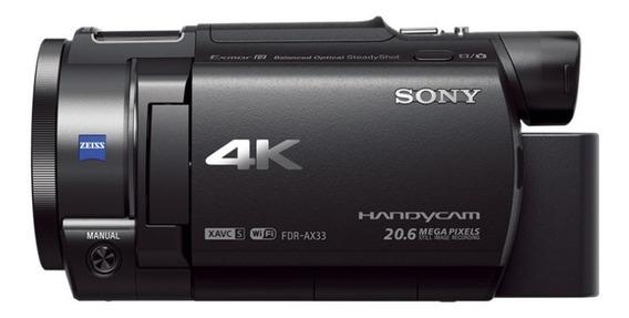 Handycam® 4k Ax33 Con Sensor Exmor R® Cmos