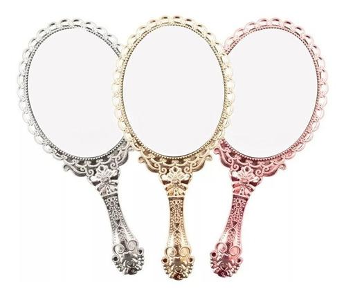 10 X Espelho De Mão E Mesa Dobrável Princesa P/ Maquiagem