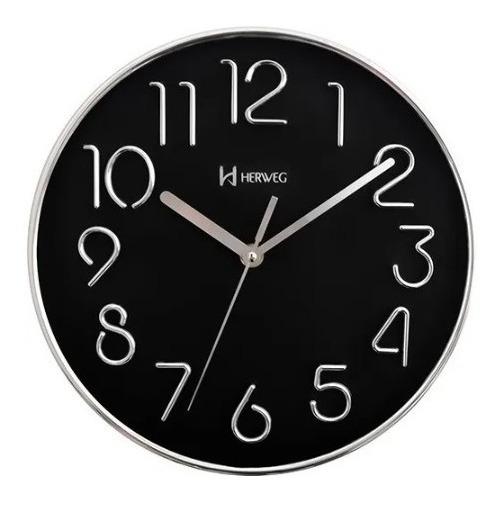 Relógio Herweg Parede Plástico Metalizado 6480 - 028