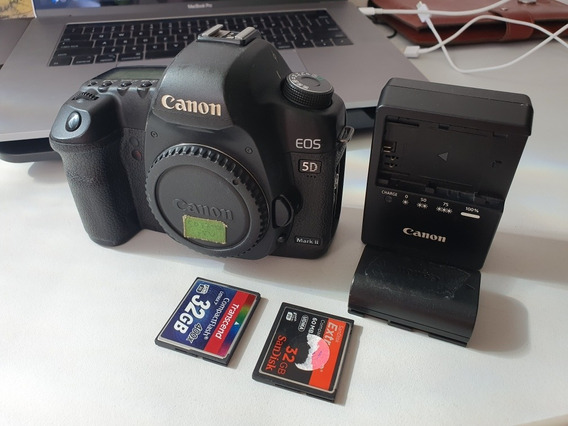 Canon 5d Markii (corpo) Bateria E Cartões