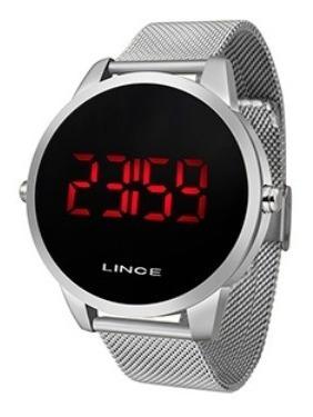 Relógio Lince Led Prata Mdm4586l Pxsx