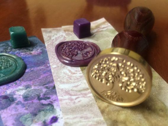 Kit Sello Tree + Lacre Crelacre + Cucharita - Varios Colores