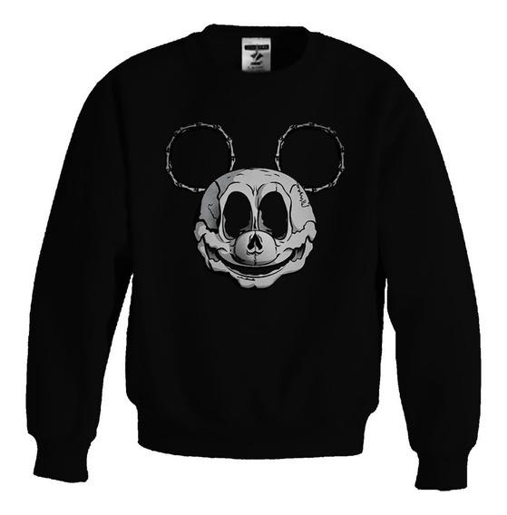 Sudadera Mickey Mouse Sweater Calavera Skull Craneo Halloween Mickey Esqueleto