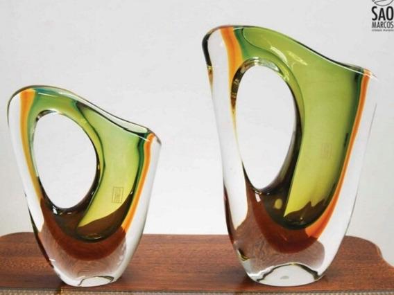 Jogo De Vaso Cristal Mudam O Verde