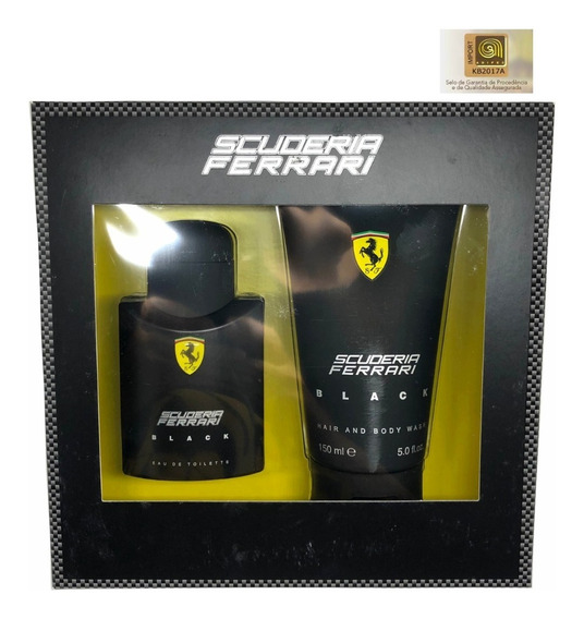 Ferrari Black Kit Edt 75ml + Shampoo 150ml - Selo Adipec Ori