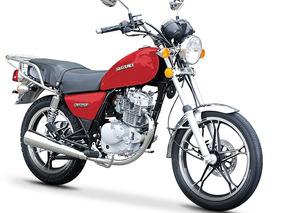 Suzuki Gn125 En Rojo Con Negro