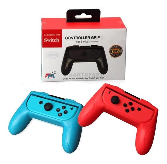 Par Grips Controle P Nintendo Switch Joy Suportes Console 2